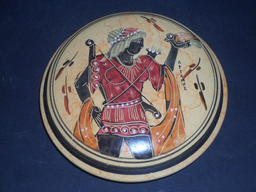 Greek Pottery Shop  Artemis goddess of the hunt greek ceramic  pyxis pottery FREE DESIGNED PYXIS