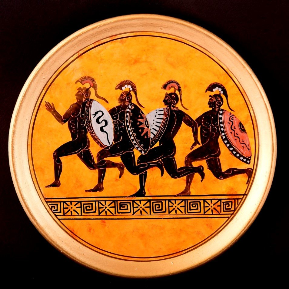 CLASSICAL PLATE WITH HOPLITES FREE DESIGNED PLATES
