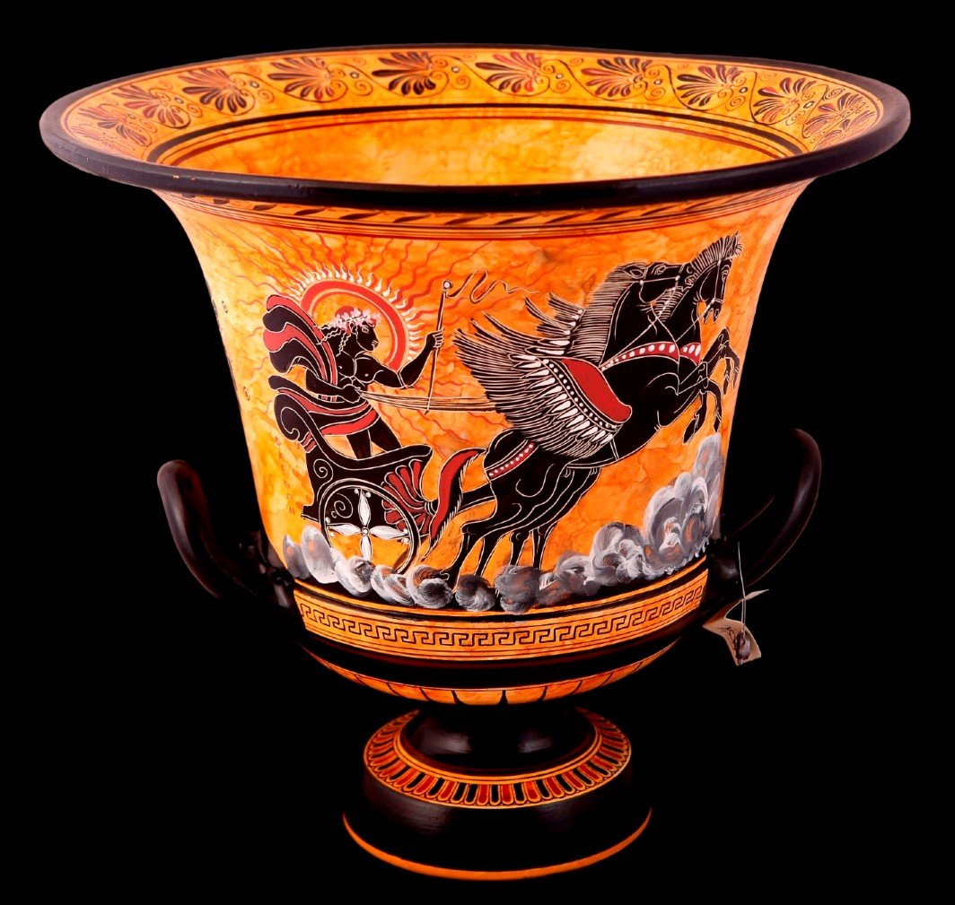 Greek pottery shop buy ancient greek vessels replicas ceramic greek pottery shop classical krater with phaethon on the main side and achlles with ajax playng reviewsmspy